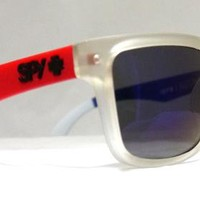 New Spy Helm Sunglasses Spy+ Ken Block Livery Red Matte Clear White Blue Lens by Eyefashion