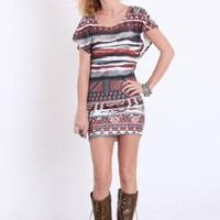 Tribal Fire Printed Dress - $34.00 : ThreadSence.com, Your Spot For Indie Clothing  Indie Urban Culture