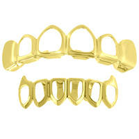See Through Grillz 14k Yellow Gold Finish Sale