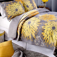 Sunflower Quilted Bedding Set King Shams