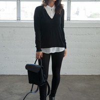 Collared Sweater One-Piece