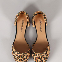 Breckelle Dolley-23 Leopard Pointy Toe Flat