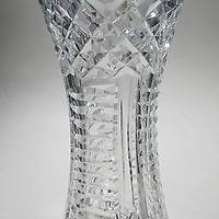 Hand Cut Glass vase ,24% lead crystal