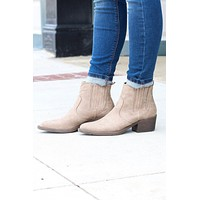 Very Volatile: Hattie Pull On Bootie {Distressed Beige}
