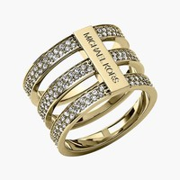 Women's Michael Kors Pave Cutout Ring