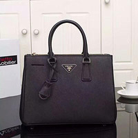PRADA WOMEN NEW STYLE LEATHER GALLERIA HANDBAG SHOULDER BAG