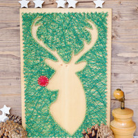Christmas Rudolph the reindeer wall decor, silhouette deer decor, unique and modern Christmas decoration, great gift for your loved ones