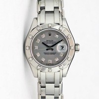 Rolex Lady Datejust Pearlmaster White Gold Silver Diamond Dial 80319 - WATCH CHE