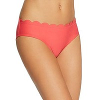 Kate Spade New York Scalloped Hipster Bikini Bottom