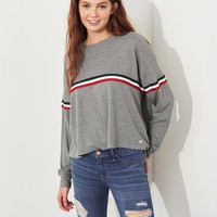 Girls Stripe Waffle Boyfriend T-Shirt | Girls Tops | HollisterCo.com