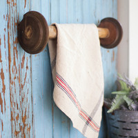 Recycled Wooden Towel Rack