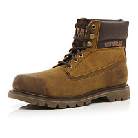River Island MensBrown Cat worker boots