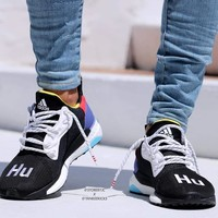 ADIDAS PW HU HOLI SOLAR BOOST Woven mesh breathable running shoes-2