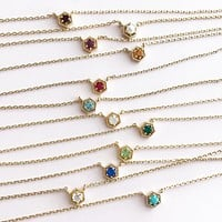 Mini birthstone necklace