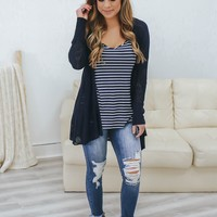 Refreshing Reality Cardigan - Navy