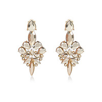 River Island Womens Gold tone statement front and back earrings