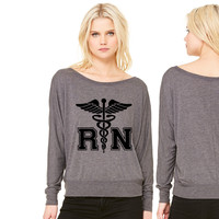 RN Registered Nurse women's long sleeve tee