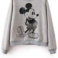 Cartoon Character Print Sweatshirt