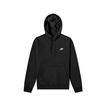 Nike Men's NSW Sportswear Club Fleece Pullover Hoodie Black