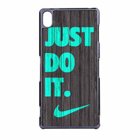 Nike Just Do It Wood Colored Darkwood Wooden Fdl Sony Xperia Z3 Case