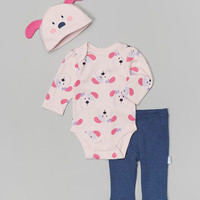 3-Piece Creeper Pant Set Puppy Pink – Vitamins Baby