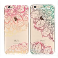 2017 new for iPhone 6 case Hybrid Cover Totem Henna Soft TPU For iphone 7 case Hard Back case for iPhone 6s 5s Plus case cover