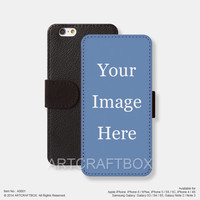 Custom iPhone case iPhone Samsung Galaxy leather wallet case cover