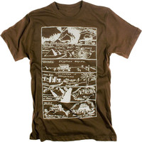 Prehistoric History Geek Vintage Illustration Cool Graphic T-shirt