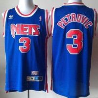 ABA New York Nets #3 Drazen Petrovic Retro Swingman Jersey