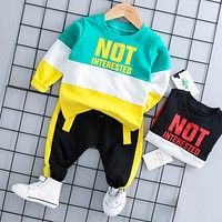 HYLKIDHUOSE 2018 Autumn Baby Girl Boy Clothing Sets Infant Clothes Suits Casual Sport T Shirt Pants Kid Child Clothes Suits