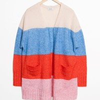 & Other Stories | Mohair & Wool Oversized Cardigan | Red