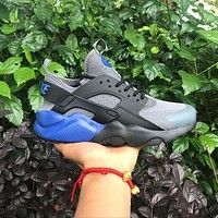 Tagre™ ONETOW Best Online Sale Nike Air Huarache 4 Rainbow Ultra Breathe Men Women Hurache Grey Dark Blue Running Sport Casual S