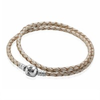 Pandora Bracelet, Double Leather Champagne at Von Maur