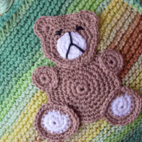 Crochet Applique Teddy bear Woodland Animals Sewing accessory Sewing craft Crochet Animal Handmade Appliques Motifs embellishment baby kids