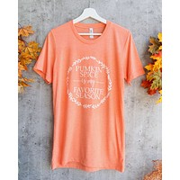 Distracted - Pumpkin Spice is My Favorite Season Unisex Graphic Tee in Heather Orange