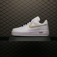 Nike Air Force 1 Off-White x Golden For Women Men Running Sport Casual Shoes Sneakers