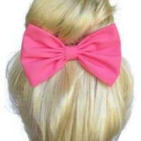 Hot Pink Hair Bow Clip Handmade By Sweet in the City