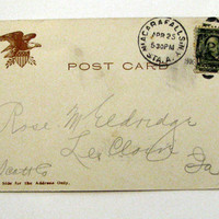1906 Postcard Greetings From New York City Undivided Back