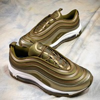 Nike Air Max 97 Metal Gold Sport Running Shoes Sale