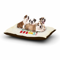 """Noonday Design """"Merry Christmas"""" Beige Green Dog Bed"""