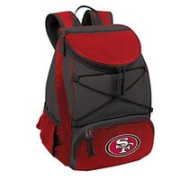 PICN-633001752742-NFL San Francisco 49ers PTX Insulated Backpack Cooler, Black