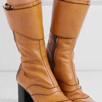 Chloé - Paneled leather boots
