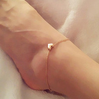 New sell like hot cakes Fashion Foot jewelry heart anklets nice gift for women girl
