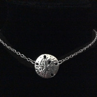 Sand Dollar Choker Adjustable Silver Chain Necklace Trendy jewelry women's collar chocker