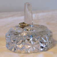 Pressed Glass Ring Holder, Jewelry Organizer, Girlfriend Gift, Collectible Glass, Mother's Day Gift, laslovelies