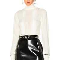 3.1 phillip lim Cable Turtleneck Sweater in White   FWRD