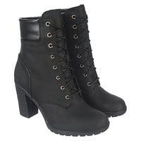 Timberland Glancy 6 IN Women's Black Low Heel Ankle Boots   Shiekh Shoes