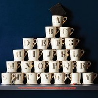 Limited Edition Golden Monogram Mug by Anthropologie in Assorted Size: