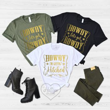Howdy Country Girl Bachelorette Shirts