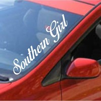 Dabbledown Decals Southern Girl Large Car Truck Window Windshield Lettering Decal Sticker Decals Stickers JDM Drift Dub Vw Lowered Jdm Fresh Detailed Stance Fitment 4x4